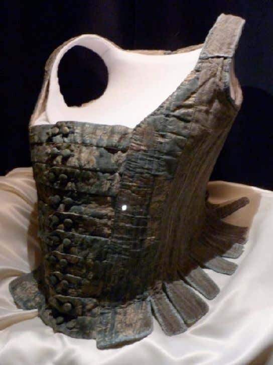 French PREGNANCY or NURSING Corset with Side Lacings c. 1750 (Musée du Costume de Château-Chinon)