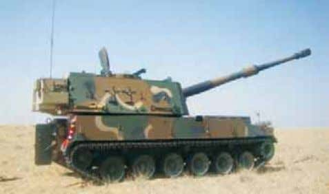"Cal Electronically Upgraded Gun System ""Dhanush"" 155mm/52 Cal Tr (Sp) Gun 3.30 Ammunitions: Bi-modular"