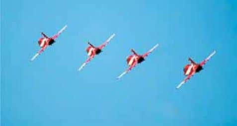 Squadron has been allotted with six aircraft to perform Hawk Aircraft aerobatic displays. These aircraft have