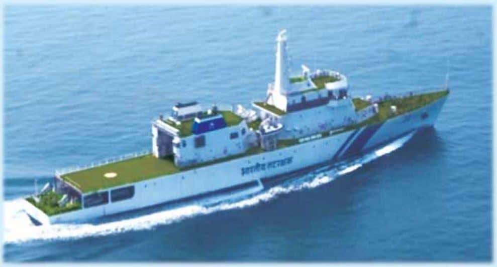 7 DEFENCE PRODUCTION First 105M Offshore Patrol Vessel (OPV) of the Project delivered by Goa Shipyard