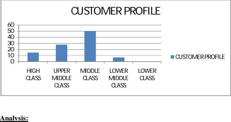 CUSTOMER PROFILE 60 50 40 30 20 10 CUSTOMER PROFILE 0 HIGH UPPER MIDDLE LOWER