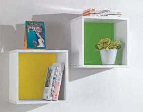 combining elements with back of different colors to decorate every wall. Inside the package, fixing wall
