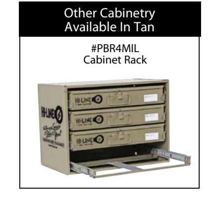 Other Cabinetry Available In Tan #PBR4MIL Cabinet Rack
