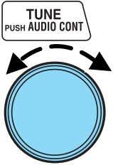 Turn the TUNE control to adjust the desired levels. Refer to Treble adjust for specific instructions