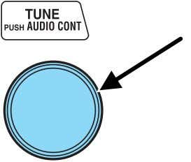 Press the audio control until MID appears in the display. Turn the control to the right