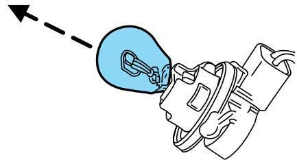 installation, follow the removal procedure in reverse order. Replacing front parking/turn signal lamp bulbs 1. Make