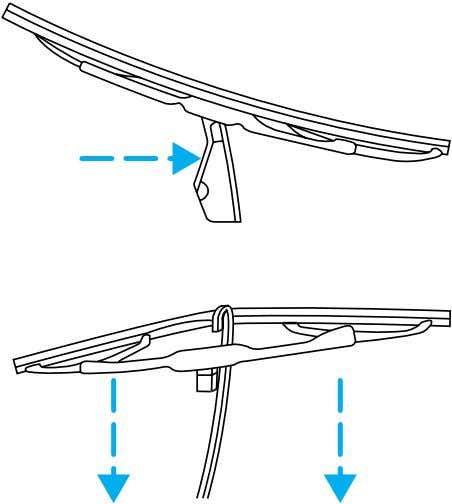 arm and press it into place until a click is heard. 3. Replace wiper blades every