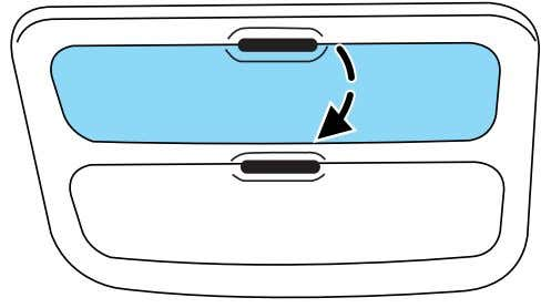 Press the OPEN control to open the storage compartment. The door will open slightly and can