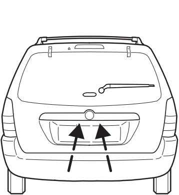 the liftgate, pull the left side of the liftgate handle. • Do not open the liftgate