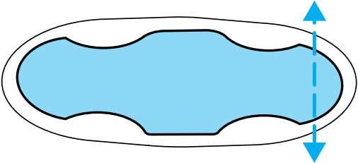 portion of the seat cushion. Move the control in the directions shown to move the seat