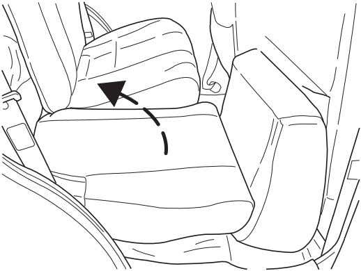 into place and that the seat belt buckles are exposed. 3. Remove the head restraints stored