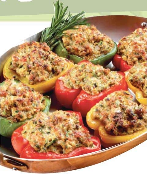 Stuffed vegetables Curries, stroganoff, stir-fries and stew-like dishes can all be stuffed into vegetables that