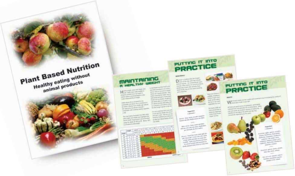 VEGAN CA TE RI NG FOR ALL FREE PLANT BASED NUTRITION AND HEALTH BOOKLET Sixteen pages