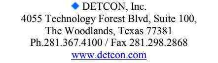 DETCON, Inc. 4055 Technology Forest Blvd, Suite 100, The Woodlands, Texas 77381 Ph.281.367.4100 / Fax