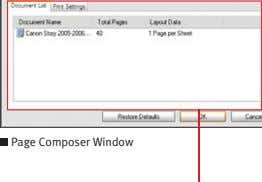 Page Composer Window