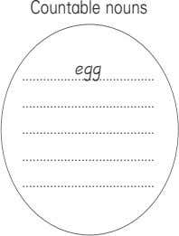 Countable nouns egg