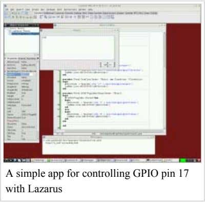 A simple app for controlling GPIO pin 17 with Lazarus
