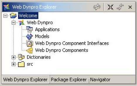 main starting point for all further development activities. Creating a Web Dynpro Component The project structure