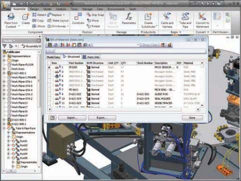 Design and Manufacturing Documentation Autodesk Inventor software provides support for all major drawing standards, automated drawing