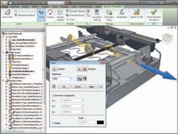 Simulation Easy-to-use and tightly integrated motion simulation and stress analysis in the Autodesk Inventor Professional software