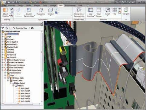 Cable and Harness Design Full integration with the bill of materials (BOM) tools in Autodesk Inventor
