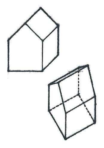 to Architectural Drawing Conventions: Oblique Projection Elevation obliques: A principle vertical face is orientated