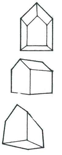 to Architectural Drawing Conventions: Perspective Projection One Point Perspective: One horizontal axis is perpendicular