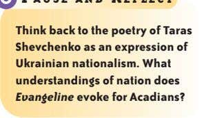 Think back to the poetry of Taras Shevchenko as an expression of Ukrainian nationalism. What