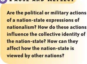 A re the political or military actions of a nation-state expressions of nationalism? How do