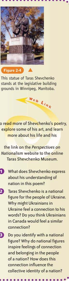 Figure 2-4 ▲ This statue of Taras Shevchenko stands at the legislative building grounds in