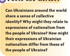 Can Ukrainians around the world share a sense of collective identity? Why might they relate