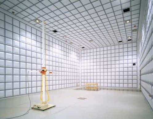 rooms for various applications. 10m Method Anechoic Chamber Business Configuration of Riken Environmental System Co.,