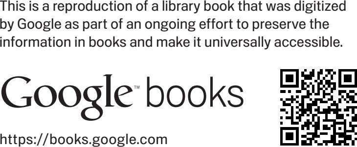This is a reproduction of a library book that was digitized by Google as part