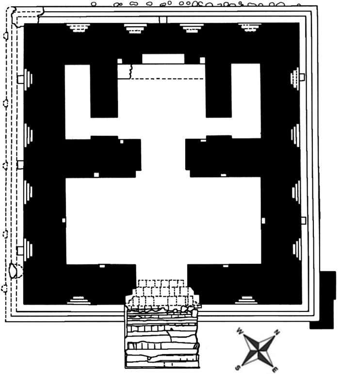 Indented Niches' and its sanctuary (after Francfort 1984). Figure 4. Th e 'Temple with Indented Niches'