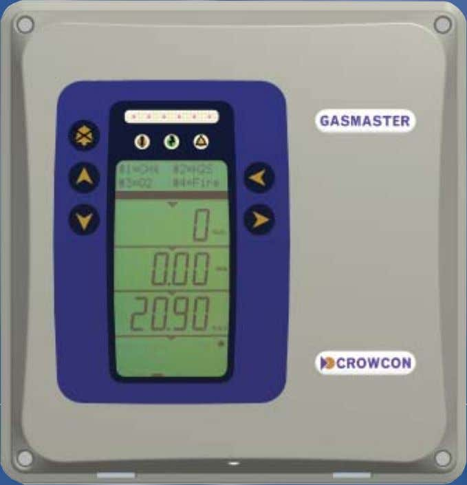 Control panel for gas and fire monitoring Gasmaster