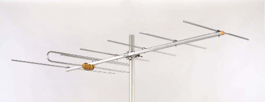 NEW ANTENNAS (VHF T2) Frequency range 174-230 MHz (ch 5-12) . Nº Elements 7 Gain 9.5