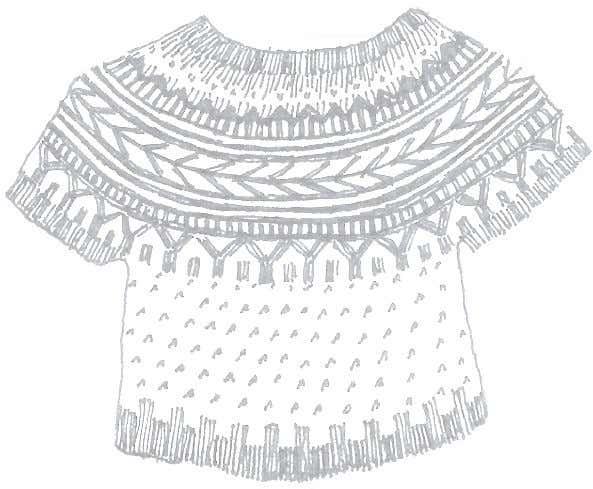 Soldotna Solotna is a fresh, new take on the traditional, color patterned, YOKED SWEATER. The