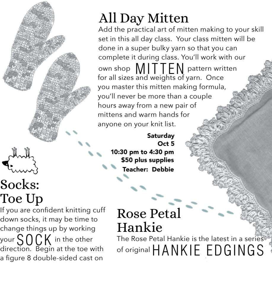 All Day Mitten Add the practical art of mitten making to your skill set in