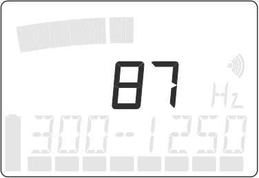 The digital display indicates the smallest value measured during a single measurement.