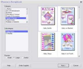 2. Select a layout and design from the design/layout area. Then click Next . Using