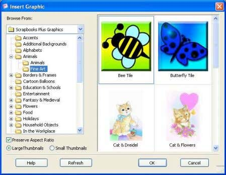 menu.) You'll see the Insert Graphic dialog box. Open the desired folder(s), select a picture and