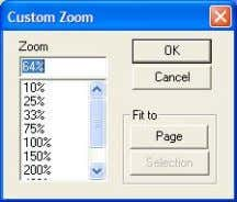 View menu. Click Selection to zoom in. A l t e rn at ive ZOOM SELECTION
