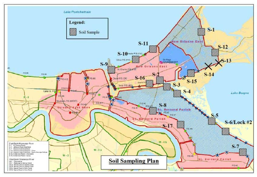 Team New Orleans Systems Hurricane Katrina May 22, 2006 Figure 9.36: Location of samples. Table 9.9: