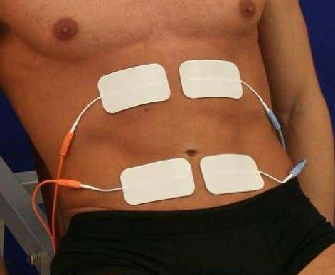 the iliac crests and the navel. • Active electrode: at the level of the rib arc