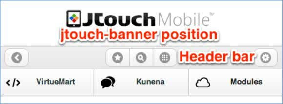 banner is loaded to the jtouch - banner position . Header Theme : Select the color