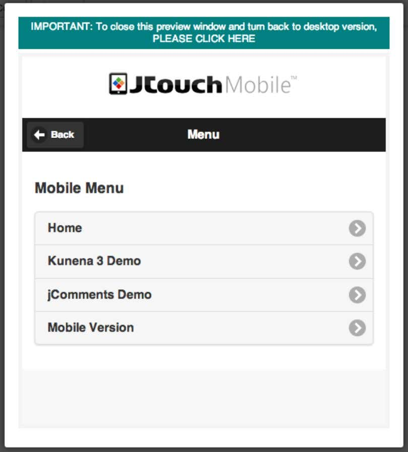 "Important! JTouch3 can "" remember "" your last viewing mode (i.e. desktop or mobile). If"