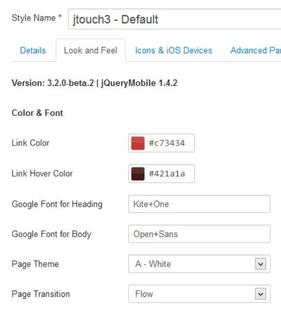 [ Look and Feel Tab ] Link Color: Set the link color here. These settings will