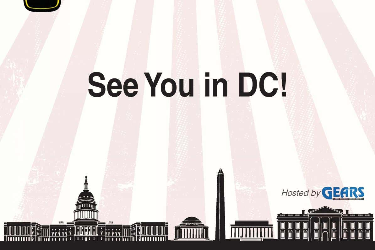 See You in DC! Hosted by
