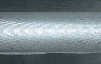The weld is in principle flush with the material which is being welded. No filler material
