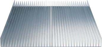 than the combined tolerances for the profiles it contains. Heat sink panel : Here the heat